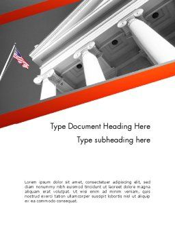 Court Building Word Template, Cover Page, 11735, Legal — PoweredTemplate.com