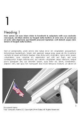 Court Building Word Template, First Inner Page, 11735, Legal — PoweredTemplate.com
