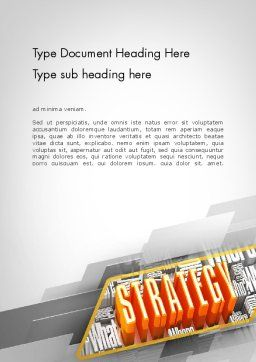 Strategy Theme Word Template, Cover Page, 11736, Business — PoweredTemplate.com