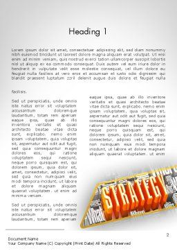 Strategy Theme Word Template, First Inner Page, 11736, Business — PoweredTemplate.com