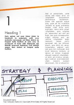 Strategy and Planning Flowchart Theme Word Template, First Inner Page, 11742, Business — PoweredTemplate.com