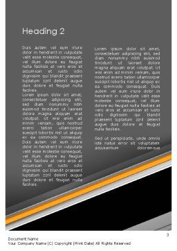 Sense of Urgency Word Template Second Inner Page