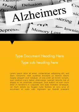 Alzheimer's Disease Word Template, Cover Page, 11744, Medical — PoweredTemplate.com