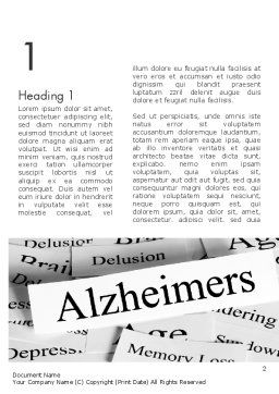 Alzheimer's Disease Word Template, First Inner Page, 11744, Medical — PoweredTemplate.com