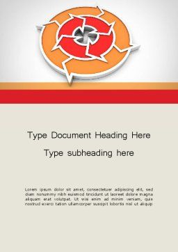 Circular Flow Diagram Word Template, Cover Page, 11745, Business — PoweredTemplate.com