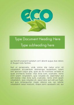 Ecology Concept Word Template, Cover Page, 11747, Nature & Environment — PoweredTemplate.com