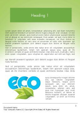 Ecology Concept Word Template, First Inner Page, 11747, Nature & Environment — PoweredTemplate.com