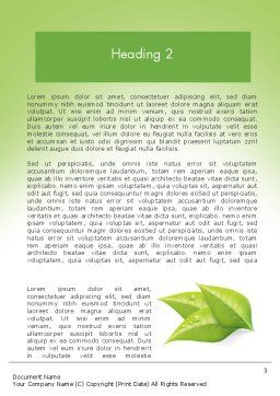 Ecology Concept Word Template, Second Inner Page, 11747, Nature & Environment — PoweredTemplate.com