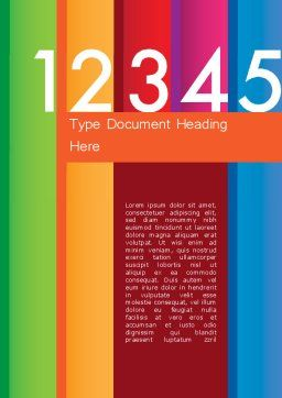 Colorful Numbers Word Template, Cover Page, 11748, Education & Training — PoweredTemplate.com