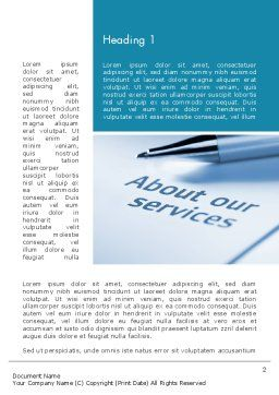 Our Services Word Template, First Inner Page, 11755, Business Concepts — PoweredTemplate.com