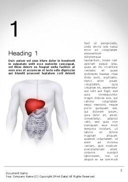 Hepatitis Word Template, First Inner Page, 11756, Medical — PoweredTemplate.com