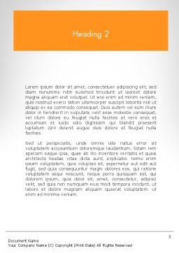 Work Concept Word Template, Second Inner Page, 11760, Business Concepts — PoweredTemplate.com