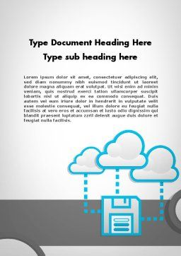 Cloud Storage Word Template, Cover Page, 11764, Technology, Science & Computers — PoweredTemplate.com