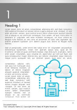 Cloud Storage Word Template, First Inner Page, 11764, Technology, Science & Computers — PoweredTemplate.com