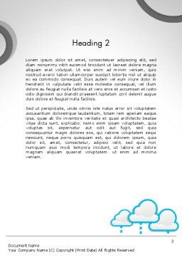Cloud Storage Word Template, Second Inner Page, 11764, Technology, Science & Computers — PoweredTemplate.com