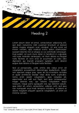 Concept of Road Works Word Template, Second Inner Page, 11766, Construction — PoweredTemplate.com