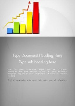 Success Bar Chart Word Template, Cover Page, 11767, Business Concepts — PoweredTemplate.com