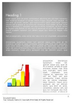 Success Bar Chart Word Template, First Inner Page, 11767, Business Concepts — PoweredTemplate.com