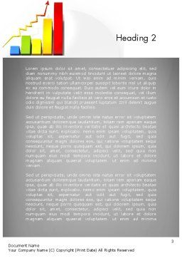 Success Bar Chart Word Template, Second Inner Page, 11767, Business Concepts — PoweredTemplate.com