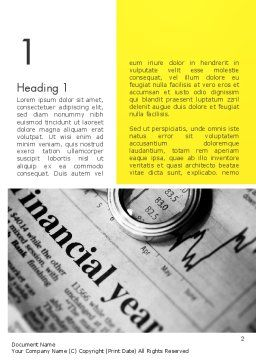 Corporate Financial Planning Word Template, First Inner Page, 11768, Financial/Accounting — PoweredTemplate.com