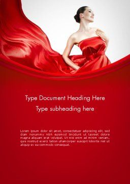 Woman in Red Word Template, Cover Page, 11770, People — PoweredTemplate.com