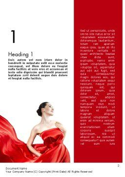Woman in Red Word Template, First Inner Page, 11770, People — PoweredTemplate.com