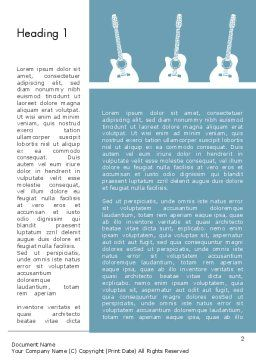 Three Guitars Word Template, First Inner Page, 11771, Art & Entertainment — PoweredTemplate.com