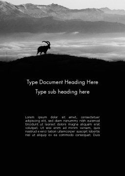 Chamois Word Template, Cover Page, 11777, Nature & Environment — PoweredTemplate.com