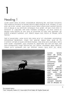 Chamois Word Template, First Inner Page, 11777, Nature & Environment — PoweredTemplate.com