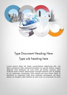Corporate Presentation Word Template, Cover Page, 11781, Business — PoweredTemplate.com
