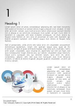 Corporate Presentation Word Template, First Inner Page, 11781, Business — PoweredTemplate.com