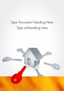 Real Estate Document Management Word Template, Cover Page, 11782, General — PoweredTemplate.com