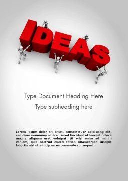 Pushing Ideas Word Template, Cover Page, 11785, Business Concepts — PoweredTemplate.com