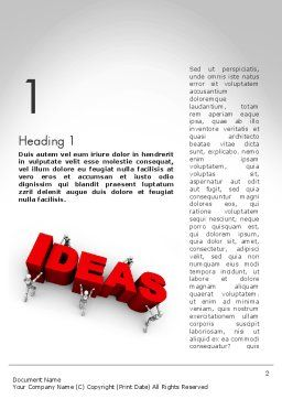 Pushing Ideas Word Template, First Inner Page, 11785, Business Concepts — PoweredTemplate.com