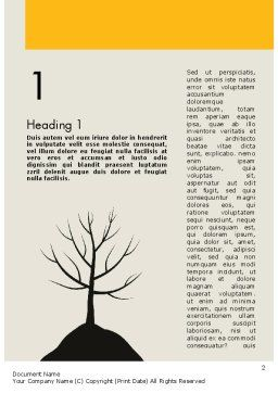 Deciduous Tree In Winter Word Template, First Inner Page, 11786, Nature & Environment — PoweredTemplate.com