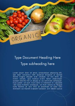 Organic Foods Word Template, Cover Page, 11787, Food & Beverage — PoweredTemplate.com