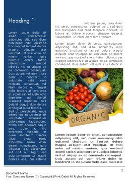 Organic Foods Word Template First Inner Page