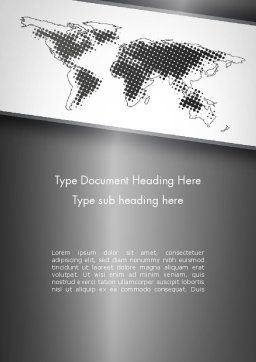 World Map Shape Word Template Cover Page