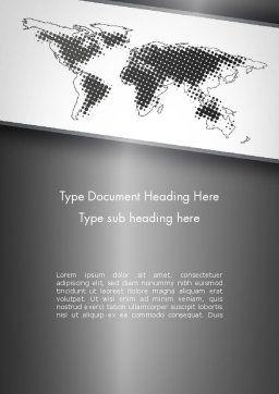 World Map Shape Word Template, Cover Page, 11788, Global — PoweredTemplate.com