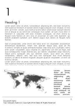 World Map Shape Word Template, First Inner Page, 11788, Global — PoweredTemplate.com
