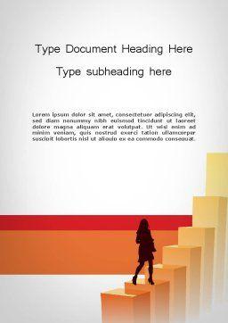 Walking Upward Word Template, Cover Page, 11789, Education & Training — PoweredTemplate.com