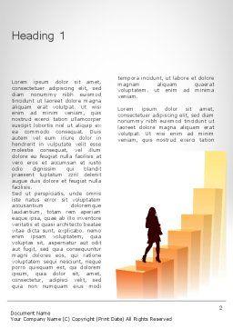 Walking Upward Word Template, First Inner Page, 11789, Education & Training — PoweredTemplate.com