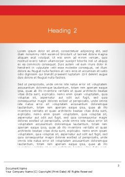 Walking Upward Word Template, Second Inner Page, 11789, Education & Training — PoweredTemplate.com