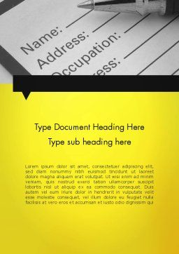 Application Form Word Template, Cover Page, 11790, Careers/Industry — PoweredTemplate.com