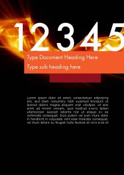Numbers on Fire Word Template, Cover Page, 11791, Education & Training — PoweredTemplate.com