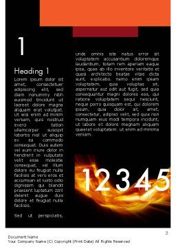 Numbers on Fire Word Template, First Inner Page, 11791, Education & Training — PoweredTemplate.com