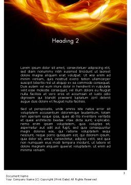 Numbers on Fire Word Template, Second Inner Page, 11791, Education & Training — PoweredTemplate.com