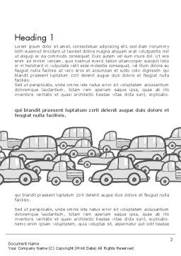 Traffic Word Template, First Inner Page, 11794, Cars/Transportation — PoweredTemplate.com