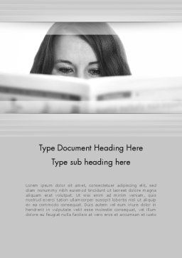 Happy Reading Word Template Cover Page
