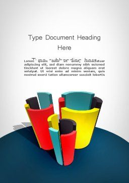 3D Diagrams Word Template, Cover Page, 11798, Business Concepts — PoweredTemplate.com